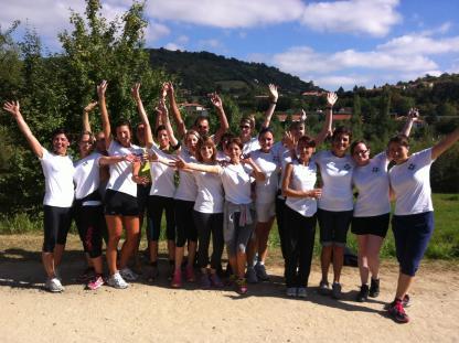 La course des filles pour la ligue contre le cancer en Haute-Loire - La course